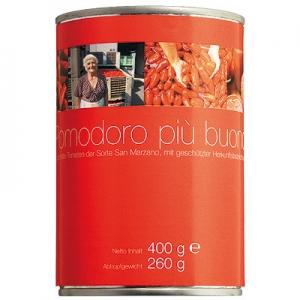San Marzano Tomaten – handgeerntete, geschälte Top-Qualität, 400 g