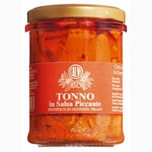 Tonno piccante – pikanter Thunfisch mit Chiliöl, 200 g